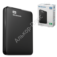 "Диск жесткий внешний WESTERN DIGITAL Elements Portable 500Gb, 2.5"", USB 3.0, чер(WDBUZG5000ABK-EESN)"