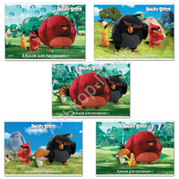 "Альбом д/рис. ANGRY BIRDS-(MOVIE) 32л., обложка мел. картон, 100г/м, ""Хатбер"", 32А4В(A212622)"