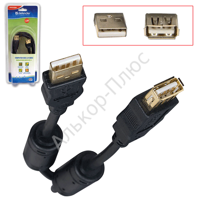 Кабель USB 2.0 AM-AF DEFENDER USB02-06PRO 1,8м, удлинитель USB-порта, 2 фильтра, 87429