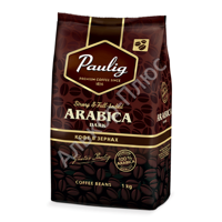 "Кофе в зернах PAULIG ""Arabica DARK"", натуральный, 1000г, вакуумная упаковка, 16608"