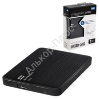"Диск жесткий внешний WESTERN DIGITAL My Passport Ultra 1Tb, 2.5"", USB 3.0, чер (WDBDDE0010BBK-EEUE)"
