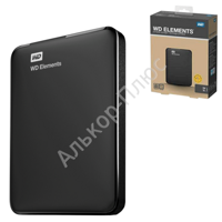 "Диск жесткий внешний WESTERN DIGITAL Elements Portable 1Tb, 2.5"", USB 3.0,  чер (WDBUZG0010BBK-EES)"