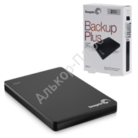 "Диск жесткий внешний SEAGATE Original BackUp Plus Portable Drive 2Tb, 2.5"", USB 3.0, чер STDR2000200"