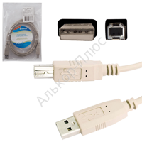 Кабель USB 2.0 AM-BM DEFENDER USB04-06, 1.8м,пакет 83763