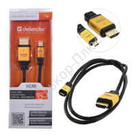 Кабель HDMI A(M)-C(M)(mini) DEFENDER HDMI08-04PRO ver1.4, , 1м, блистер, 87462